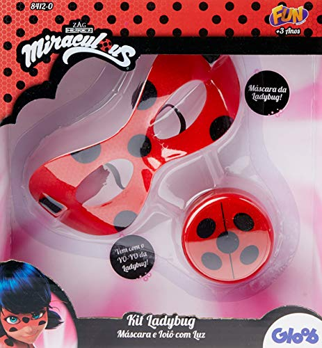 Ladybug Kit Médio Mascara R Ioiô com luz, Multicor
