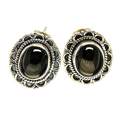 Ana Silver Co Psilomelane Earrings 3/4' (925 Sterling Silver)