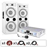 Equipo PA DJ-22 – Altavoces, ampli, Micro, 1000W