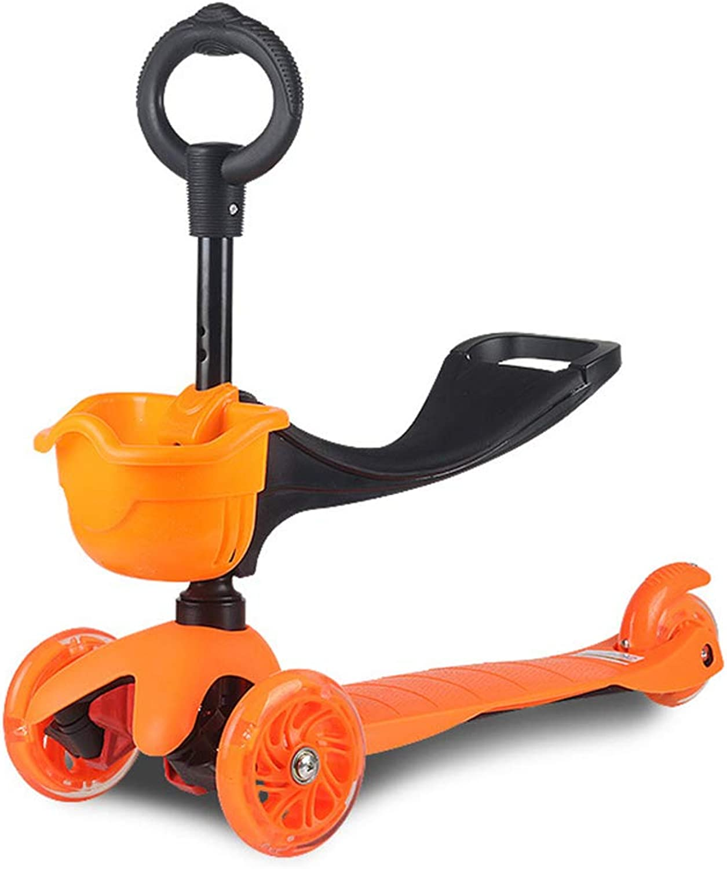 ventas en linea WYFDM Scooter para Niños, Niños Niños Niños y niñas pequeños o Niños-Ajustable Altura w Extra-Wide Deck PU Intermitente Ruedas para Niños de 2 a 10 años de Edad,naranja  nuevo listado