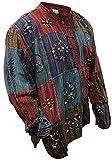 Shopoholic Moda Deslavado Camisa De Rayas Con Patchwork,Colorido,hippie - Multicolor, XXXXG