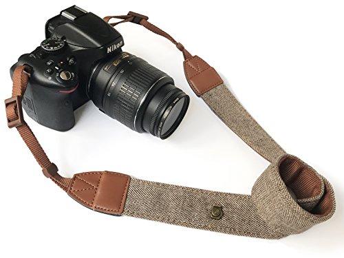 Alled Cámara Correa,Correa de Cuello Camara De Hombro Cuello Cinturón,Bohemia Vintage Cámara Universal Ajustable Correas para Nikon Canon Sony Lumix Fujifilm Pentax Olympus DSLR SLR Etc. (Marrón)