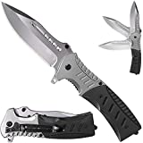 Pocket Knife Spring Assisted Folding Knives - Military EDC USMC Tactical Jack Knifes - Best Camping Hunting Fishing Hiking Survival Knofe - Travel Accessories Gear Boy Scout Knife Gifts for Men 0208