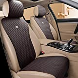 Red Rain Dark Brown Seat Covers Auto Seat Cushion Covers Leather Universal Seat Covers 2/3 Covered 11PCS Fit Car/Auto/SUV (A-Dark Brown) -  Haihong