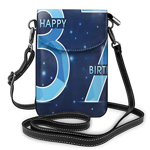 Women Mini Purse Crossbody of Cell Phone,Cheerful Late Years Life Age Open Night Starry Sky Symbolic Design