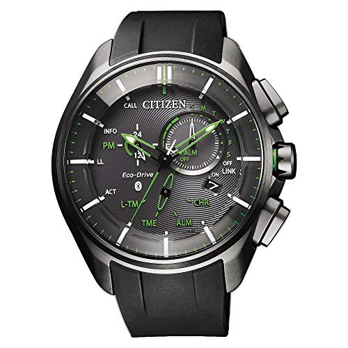 CITIZEN Reloj de cuarzo Bluetooth Watch Super Titanio para hombre analógico cuarzo con correa de goma BZ1045-05E