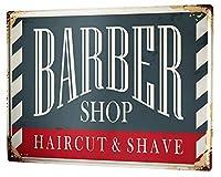 [ZUNYI]ブリキ 看板メタルプレートプラークNostalgic Barbershop壁の装飾、家、パブ、ビール、ガレージ、庭、コーヒー[20x30cm]