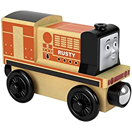 Trenino Thomas- Locomotiva Rusty Treno in Legno Giocattolo, FHM35