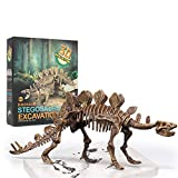Vankii 3D Skeleton Dinosaur Excavation Kit, Dig Kits for Kids DIY Puzzles Realistic Fossils Toy Digging up Dinosaurs Bones Science Education Toys Parent Kid Games (Stegosaurus)