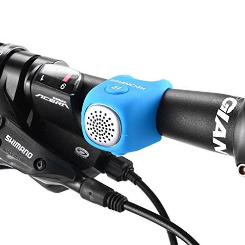 ROCKBROS Campanello Elettrico Bici Campanello per Bicicletta MTB Impermeabile IPX4 in Gel di Silicone Elastico 80db