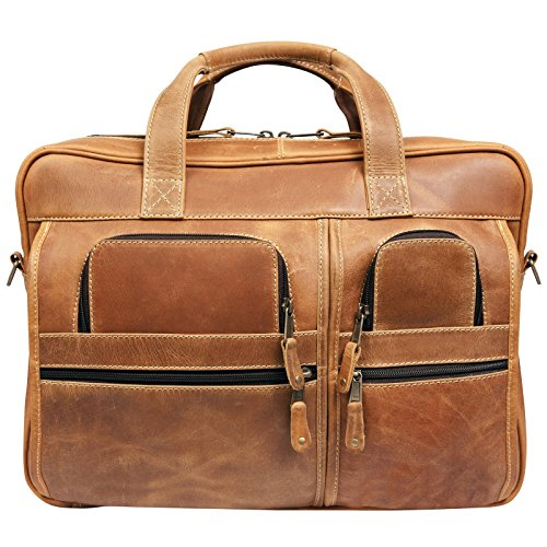 Canyon Outback Leather Goods, Inc Casa Grande Canyon X-Large Laptop Briefcase for Men - 15.6