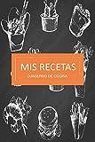 mis recetas cuaderno de cocina: Cuaderno Recetario con 120 hojas para anotar tus recetas favoritas 6 in x 9 in (español) regalo ideal para estas fiestas