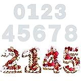 Kuchen Zahlenform 9 Stück Kuchenform 0-9 Zahlen Set, Zahlen Kuchenform Torte Zahlen Vorlage...