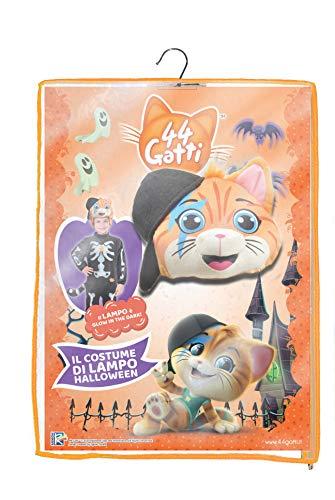 Ciao-Lampo gattino 44 Gatti Halloween Special Edition costume bambino (Taglia 4-6 anni), Multicolore, 11231.4-6