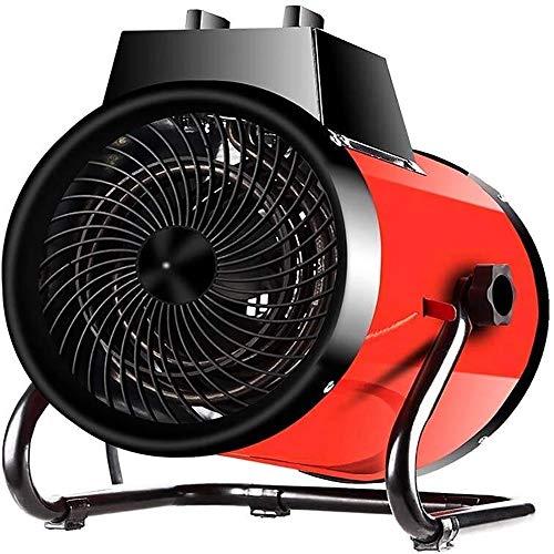Xiao Jian Elektrische verwarming, 3000 W, elektrische radiator met 3 snelheidsniveaus, veiligheidsbescherming, industriële verwarming voor taller, broeikas, fabriek-rood