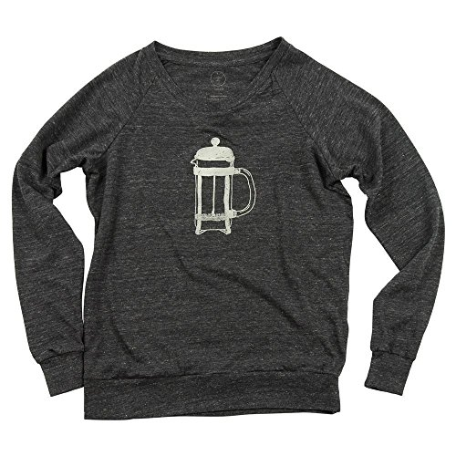 French Press Coffee Women's Eco-Blend Slouchy Pullover Sweater