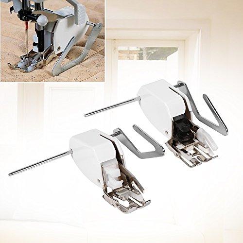 Juego de prensatelas, barra de acolchado de guía profesional Prensatelas para caminar Pies de caña baja Accesorios para máquinas de coser(5MM)