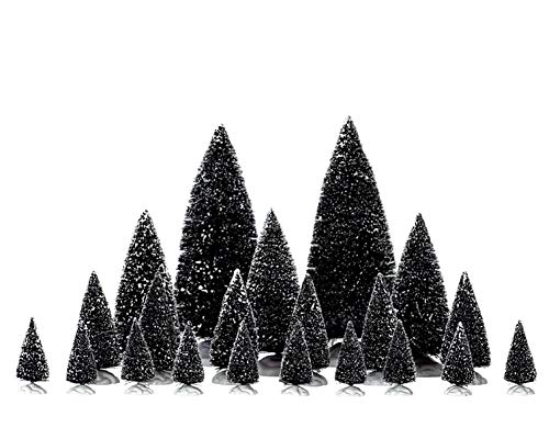 Lemax Village Accessory Assorted Pine Trees, Green