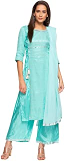 Aurelia Women's Cotton Straight Salwar Suit Set