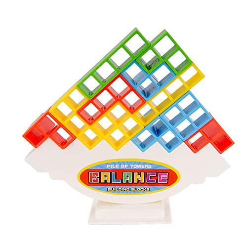 Balance Building Blocks Puzzle Zusammenbau Tetris Jengas DIY Zusammenbau Vielseitiges Spielzeug Dekompressions-Brettspiel zur Entwicklung der Fähigkeit von Kindern