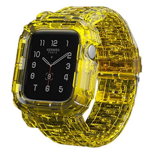 Aztnrwen Bandas Deportivas De Moda Compatibles Con Apple Watch Band, Correa De Repuesto Suave Transparente De Resina Compatible Con La Serie Iwatch