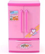 Yosoo Mini Fridge Appliances Perfect Little Pink Refrigerator Dream Kitchen Mini Refrigerator Pink Toy Fridge Playset for Dolls with Play Food Set