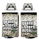 WANGPENG Grand Theft Auto V GTA 5 Ps5 Edición Digital Pegatina de Piel Cubierta de calcomanías para Consola Playstation 5 y Controladores Ps5 Pegatina de Piel