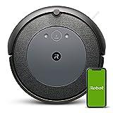 iRobot Roomba i3152 Robot aspirapolvere connesso, due spazzole in gomma multisuperficie, suggerimenti personalizzati, compatibile con assistente vocale, tecnologia Imprint, grigio/blu