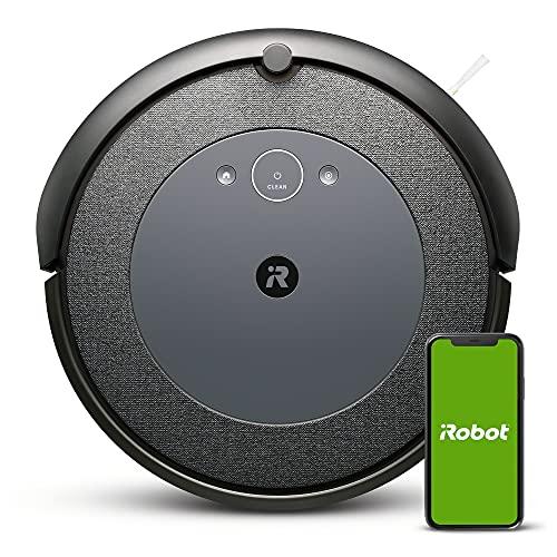iRobot Roomba i3152 -  Robot Aspirador con mapeo,  Wi- Fi y Dos cepillos de Goma multisuperficie,  óptimo por Mascotas,  Compatible con asistentes de Voz y coordinación Imprint,  Color Gris Azulado