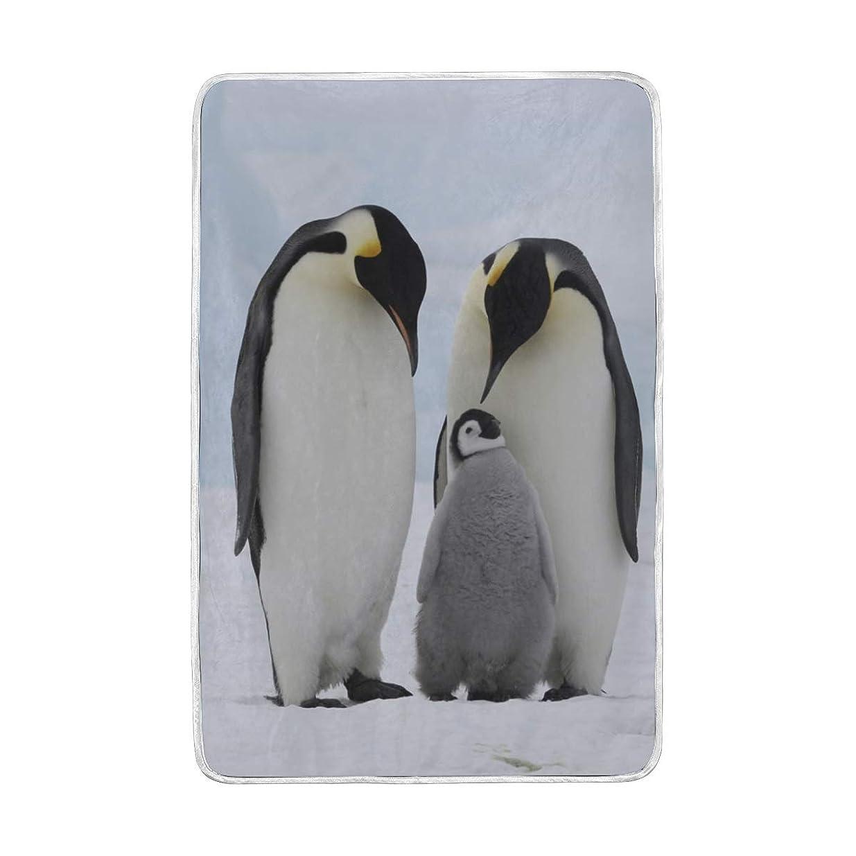 包帯ロバ送料毛布 ペンギン シングル ダブル 2枚合わせ 暖かい 軽い セミダブル 発熱 ブランケット 大判 マイクロファイバー 柔らか 保温 洗える 150x230