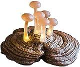 ZWJWJ Escultura Exquisita Escultura decoración de Moda decoración decoración Bosque Estatua de Seta Muebles para el hogar lámpara de Mesa Seta luz de Noche Arte decoración Mesa