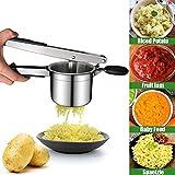 WLHER Machacador de Patatas machacador Manual de Acero Inoxidable 304 con 3 Discos Intercambiables, Se Utiliza para procesar Patatas Finas, Medianas y Gruesas