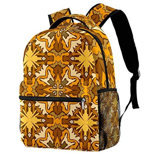 Orange Personalised School Bag for Boys and Girls - Kids School Backpack - Childrens rucksacks for Boys and Girls