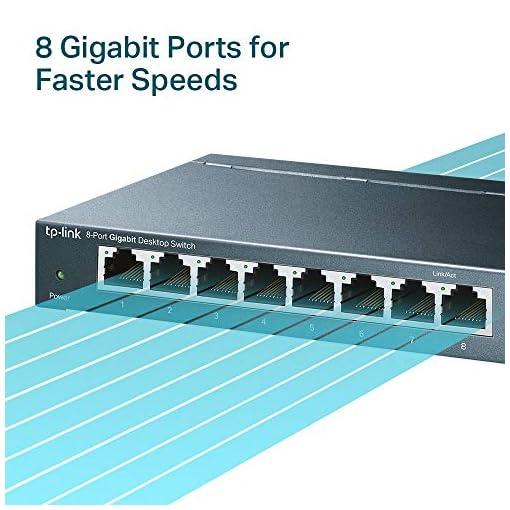 TP-Link TL-SG108 V3.0, Switch de Escritorio Red (10/100/1000 Mbps, Carcasa de Acero, IEEE 802.3 X, Auto-MDI/MDIX, Plug… 2