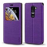LG G2 Mini D618 D620 Case, Wood Grain Leather Case with