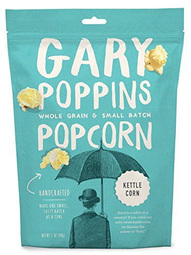 Read About Gary Poppins Popcorn - Gourmet Flavored Popped Popcorn - 4 Pack Kettle Corn (7oz)