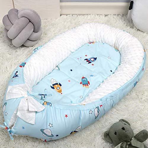 Babynest Tragbar,Atmungsaktives Schlafsessel-Nest Für Neugeborene Und Babys Tragbares Kinderbett Und Stubenwagen,Bezug Aus 100% Baumwolle Für Babys 0 Bis 36 Monate,B