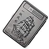 軽量のタバコケース、金属製のフルパック20個の通常のタバコの箱のホルダー、USB充電式の葉巻ライターフラメレス防風