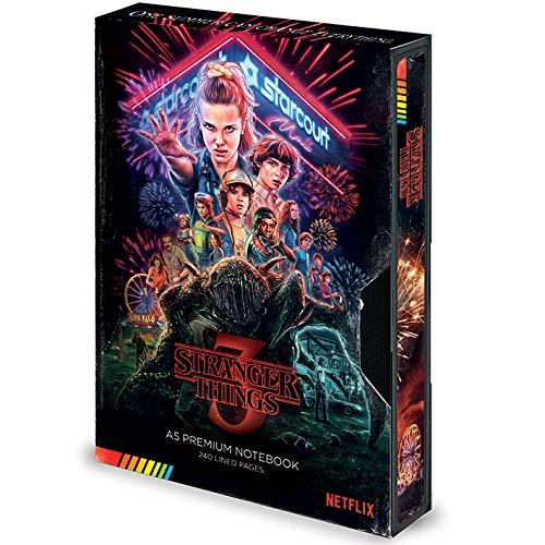 Stranger Things - Taccuino formato A5, stile VHS, stagione 3, prodotto ufficiale
