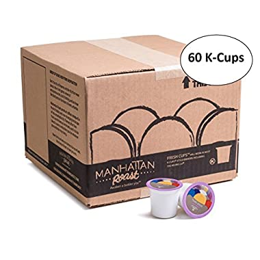 Manhattan Roast Coffee Times Brew Breakfast Blend Single-Serve Keurig K-Cup Pods, Light Roast Coffee, 60 Count