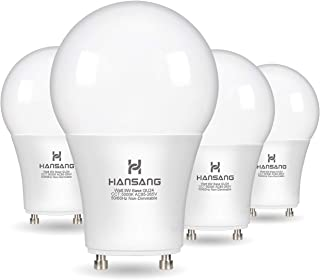 A19 LED Bulb Hansang Gu24 Light Bulb Base,9W (100W Equivalent),900 Lumens,5000K Daylight,220 Degree Beam Angle,Gu24 Twist Base,for CFL Upgrade,Non-Dimmable 4 Pack