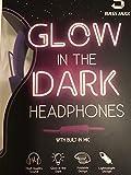 Bass Jaxx Glow in The Dark Headphones w/Built in Mic Purple