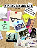 Vision Board Kit for Adults: Clip Art, Word Quotes, & Picture Supplies | Creative Motivational Visualization Journal | Law of Attraction Guide | Soft Cover | 8.5x11 (Vision, Set, Goal Trackers)