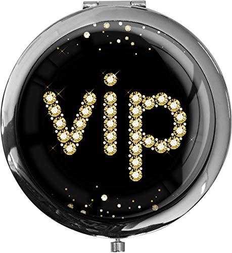 Premium - miroir de poche sous forme ronde vip