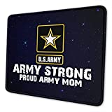 Army Star Proud Army Mom Mouse Pad - Non-Slip Mousepad Rubber Gaming Mouse Pads Anime Mouse Pad Home Office Computer Gaming Mousepad Mat