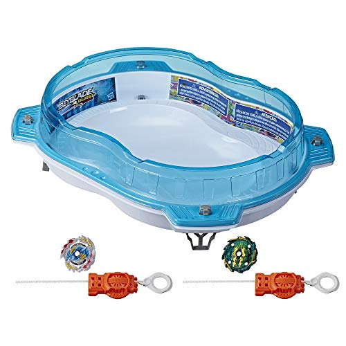 BEYBLADE Burst Rise Hypersphere Vertical Drop Battle Set -- Complete Set with Beystadium, 2 Battling Top Toys and 2 Launchers, Ages 8 and Up