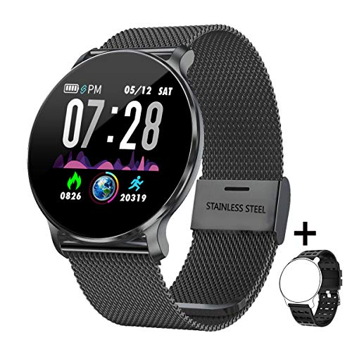 Fitness Tracker TB11,Smart Watch IP68 Waterproof Activity Tracker for Android Phones iPhone Compatible,Fitness Watches for Men Women with Sleep Monitor Heart Rate Blood Pressure Monitor