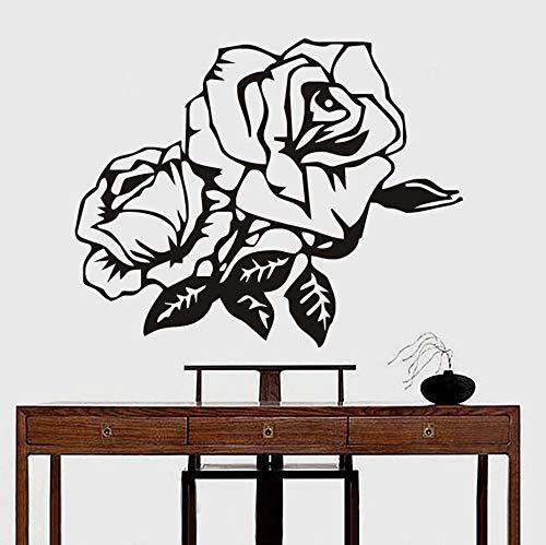 Wohnzimmer Schlafzimmer atmosphärisch abnehmbar wasserdicht Wandkunst Aufkleber hochwertige Rose Blume Wandaufkleber Wohnkultur 54 * 43cm