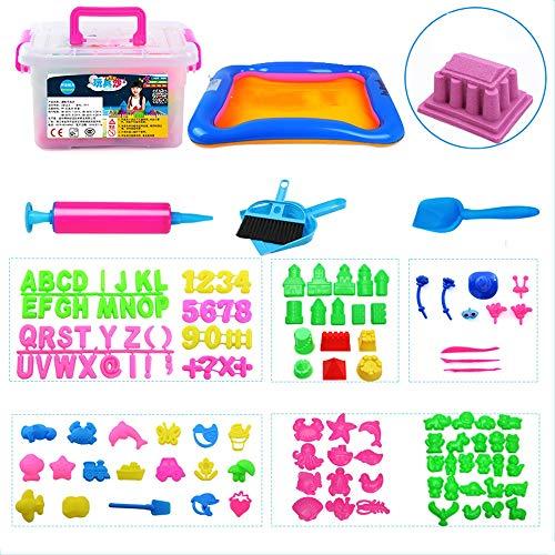 Lihgfw Children's Space Toy Sand Suit Kluis Niet-toxisch Boy Girl Toy Magic Zand Color Klei Klei 2,5 Kg Set DIY