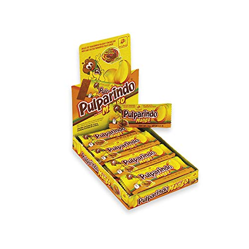 De la Rosa pulparindo 20 pack, tamarind candy (MANGO) and 2 pulparindots pockets